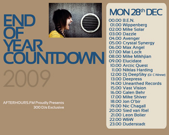 AH.FM presents - End of Year Countdown 2009 (DAY 10 - 2009-12-28)
