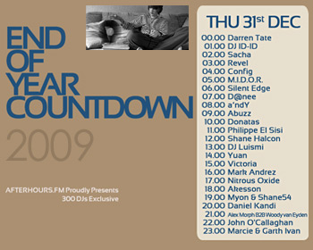 AH.FM presents - End of Year Countdown 2009 (DAY 13 - 2009-12-31)